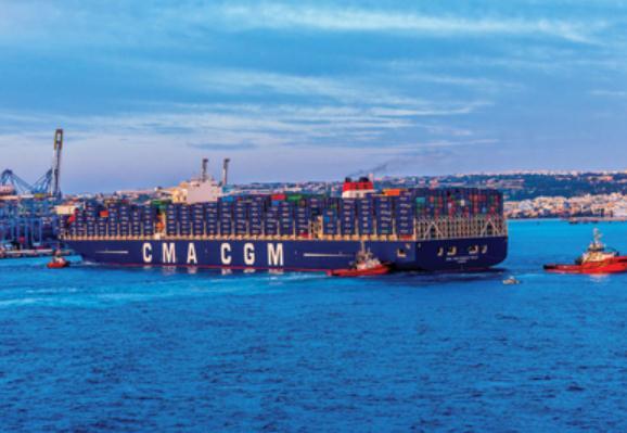 CMA CGM MARCO POLO Calls at Malta Freeport