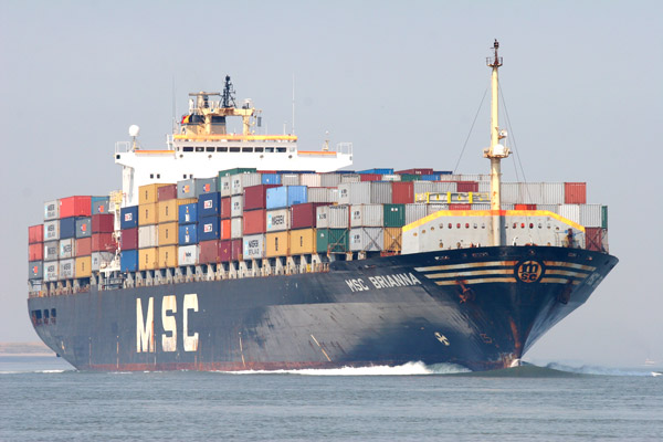 MSC's wider 8,700-TEUers get access Indian shallows with more cargo
