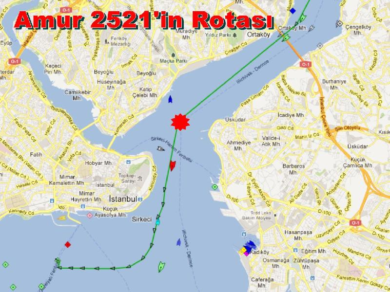 Amur 2521 collides with high speed ferry in Istanbul