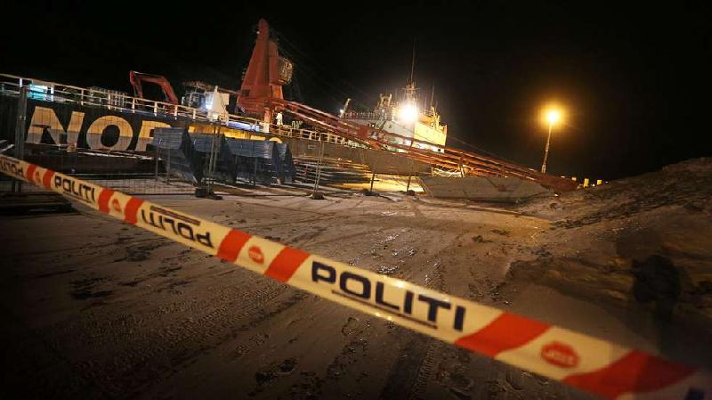 M/V Nordvik: Crane failed - concrete blocks crashed onto quayside