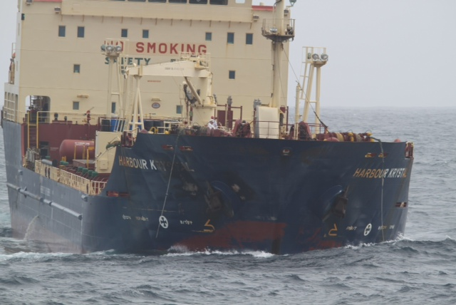 Explosion on tanker 'Harbour Crystal', one crewmember missing