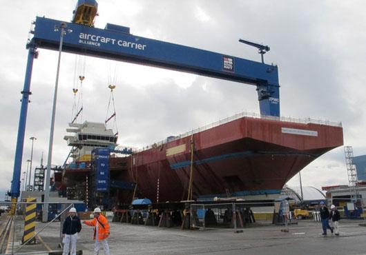 UK: HMS Queen Elizabeth Gets Navigation Bridge (VIDEO)