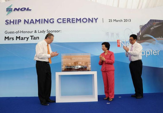 NOL Names Largest Vessel in Its Fleet (Singapore)