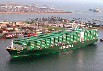 Evergreen Line provides sea freight services for Alibaba.com members