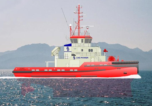 Sanmar Constructs World's First LNG Powered Escort Tugs