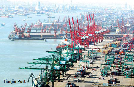 Tianjin targets port container throughput of 13 million TEU in 2013