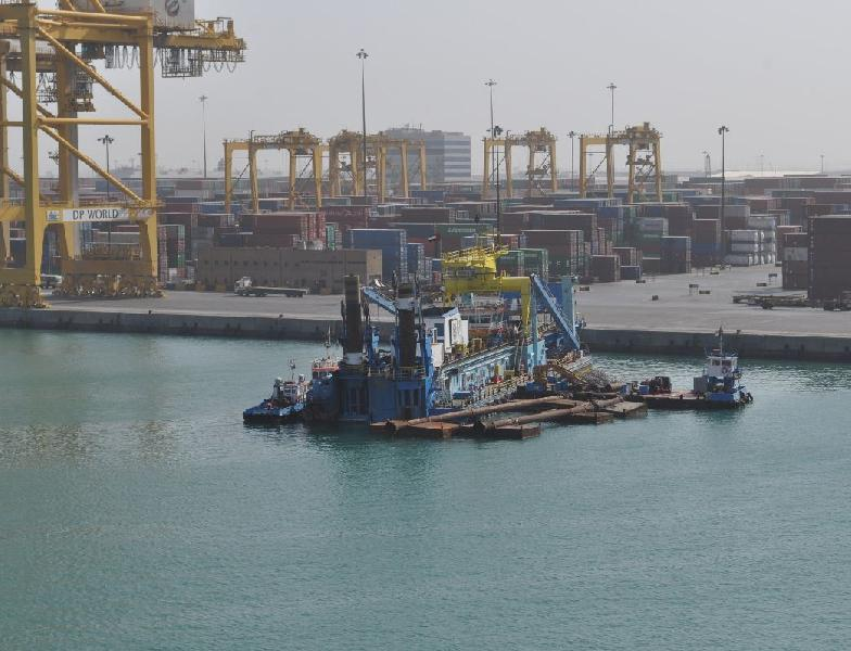 Jebel Ali Port decade-long dredging from 14 to 16 metres completed