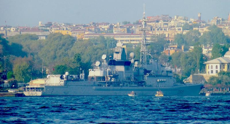 French Destroyer Jean Bart in Istanbul for three days visit