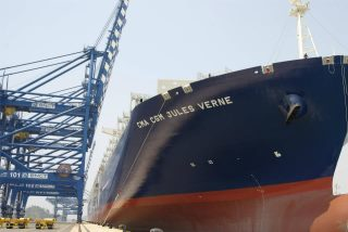 World's largest containership CMA CGM Jules Verne in service