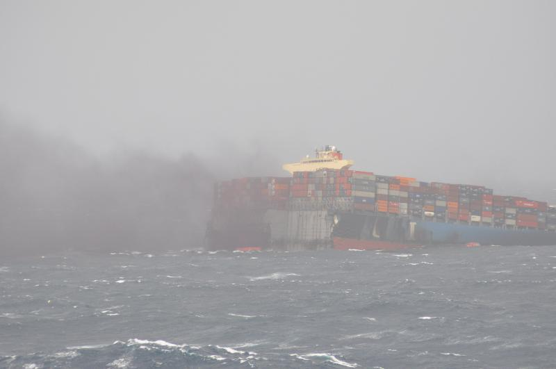 Fire on board MOL Comfort after ship broke in two
