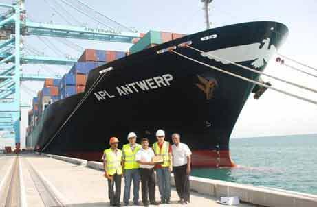 APL Antwerp Docks at Khalifa bin Salman Port, Bahrain
