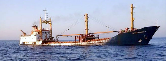 Turkish cargo ship Tayyar Senkaya 1 Sunk in Mediterranean