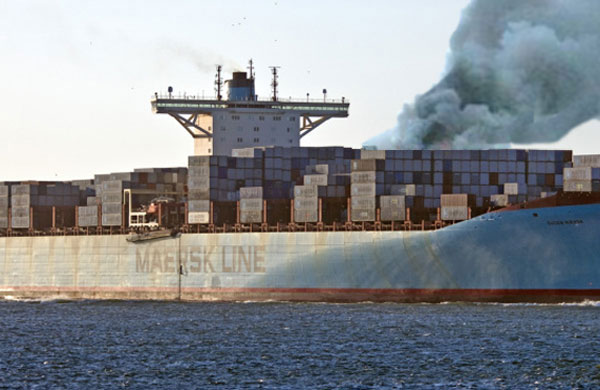 Maersk to probe shipboard fire with eye to misdeclared cargo causes