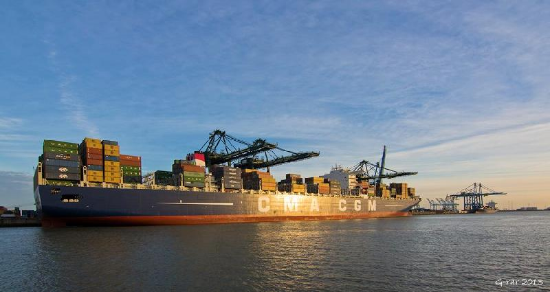 Le Havre fetes the pride of France - 16,020-TEU CMA CGM Jules Verne