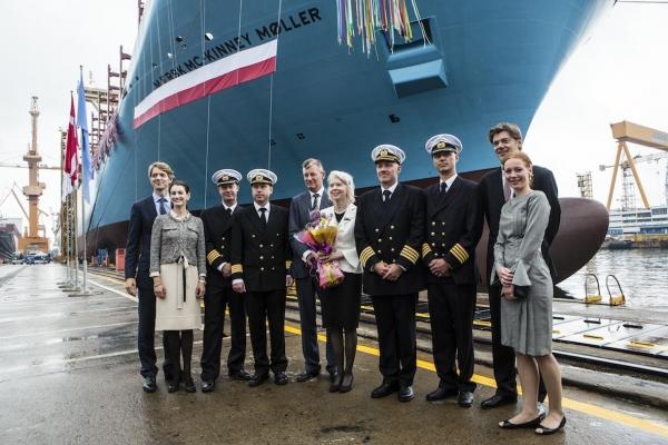 Maersk takes on world's biggest box ship - 18,270-TEU Mc-Kinney Moller