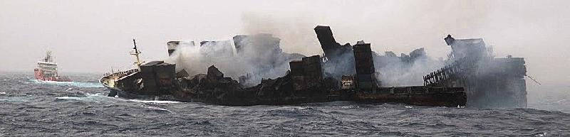 MOL Comfort fore part, which was under tow, has sunk