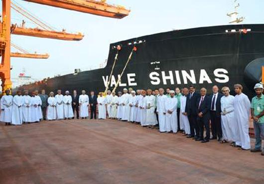 VLOC 'Vale Shinas' Docks at Port of Sohar (Oman)