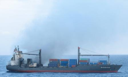 Singapore's PIL ship reported still ablaze and adrift in Indian Ocean
