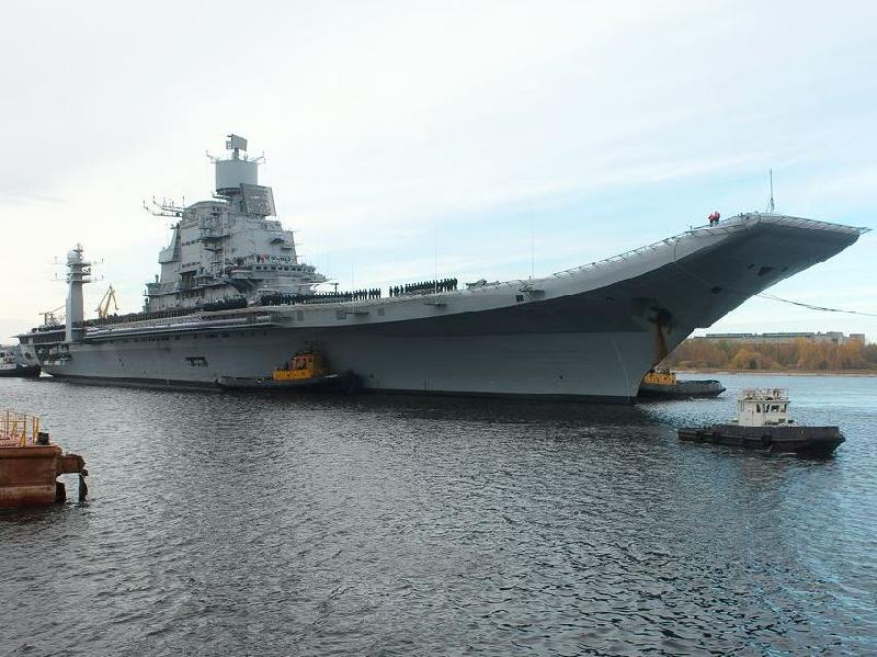 Aircraft Carrier INS Vikramaditya Completes Its Sea Trials