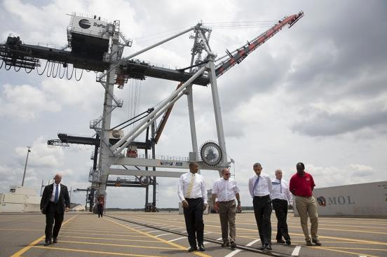 Obama praises MOL's TraPac container terminal in Jacksonville