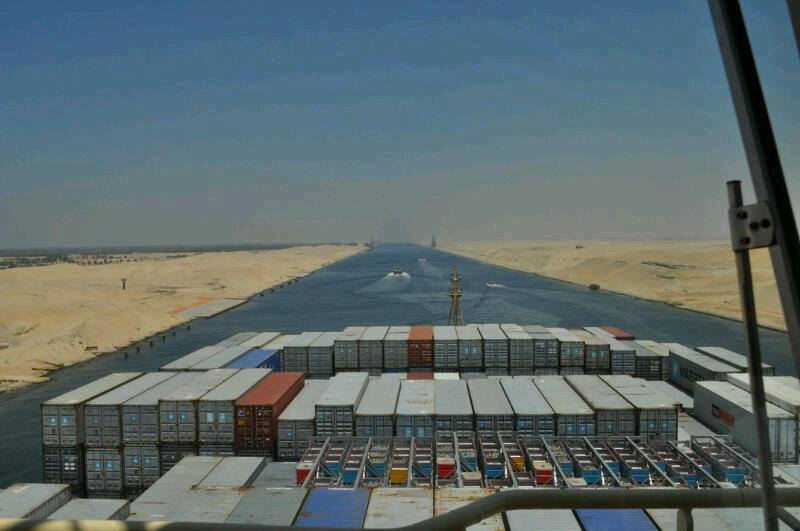 World's largest container ship crosses Egypt's Suez Canal