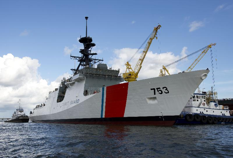 Ingalls Shipbuilding Launches Fourth U.S. Coast Guard National Security Cutter