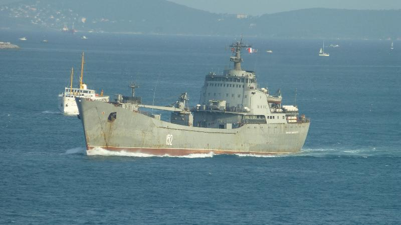 "Russian Large Landing Ship ""Nikolay Filchenkov"" passed Istanbul Strait today"