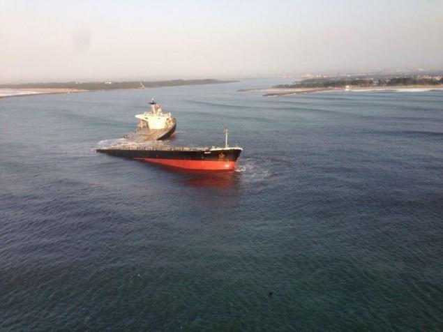 M/V Smart'sfuel oil tanks still intact