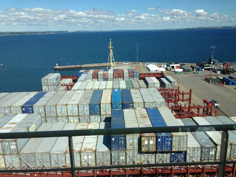 It pays to be big in container shipping these days...