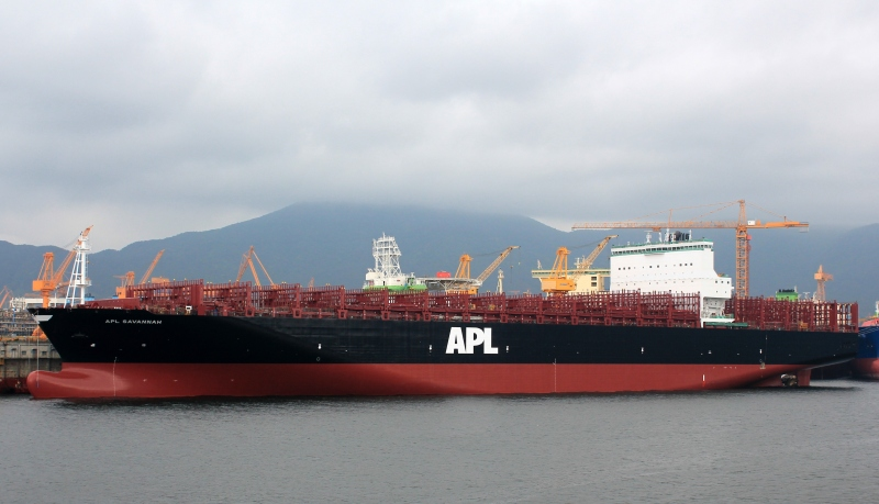 Singapore's APL takes delivery of 9,200-TEU Savannah, fifth of 12