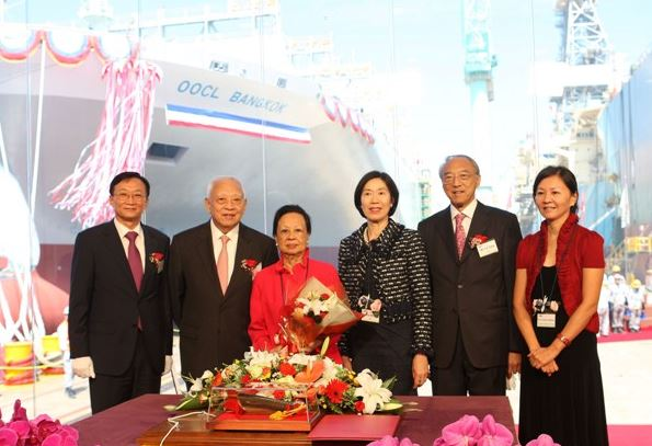 Betty Tung names 13,000-TEU OOCL Bangkok set for Asia-Europe route