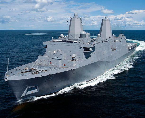 Transport Dock 'Somerset' Returns from Sea Trials (USA)