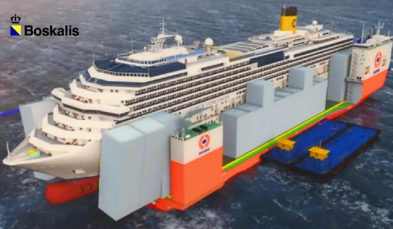 VIDEO: Float-On and Transport of Costa Concordia Onboard Dockwise Vanguard