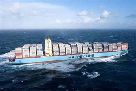 9,500-TEU Maersk Salina loses deck boxes in stormy Bay of Biscay