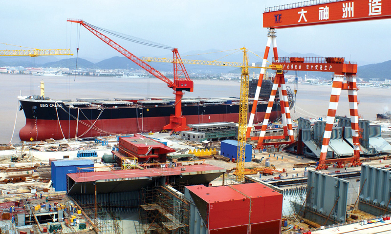 Chinese shipbuilding capacity to drop 30% by 2015