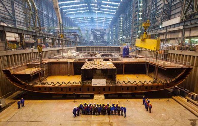 Royal Caribbean Marks Milestone by 'Anthem of the Seas' Keel Laying (USA)