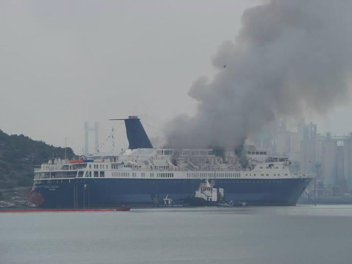 Fire on cruise ship Ocean Countess at shipyard, no injuries