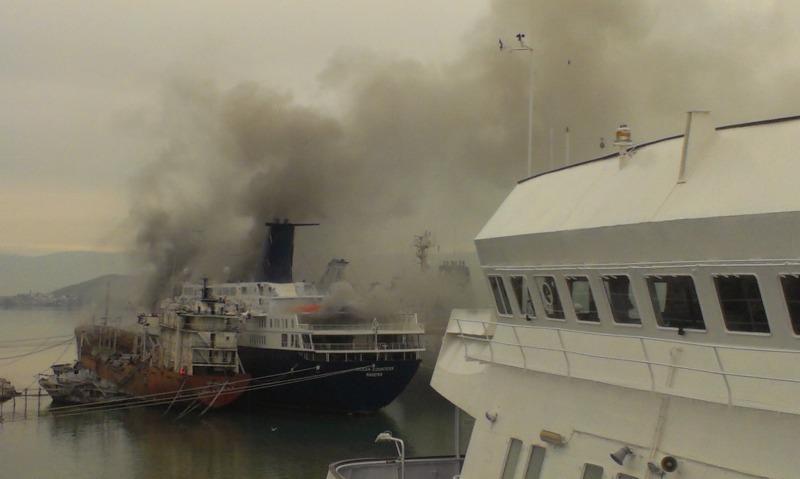 "Fire aboard ""Ocean Countess"" finally under control!"
