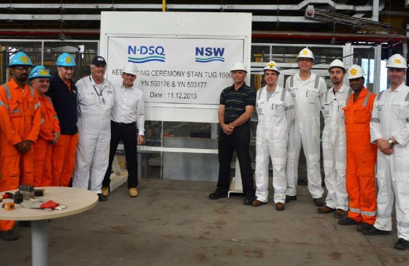 NDSQ Lays Keels for Two Stan Tugs (Qatar)