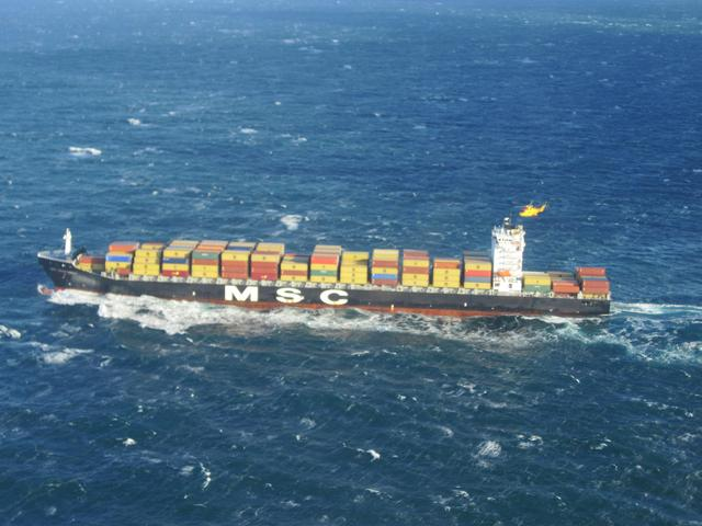 MSC Monterey's crack on main deck to be repaired in Canada