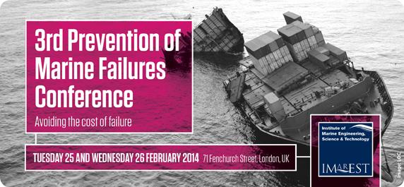 Marine engineering meeting February 25 focuses on ship failure