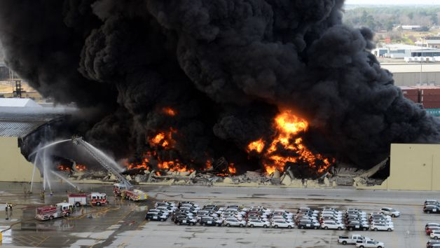 1,800 tonnes of raw rubber ablaze, but put out in Port of Savannah
