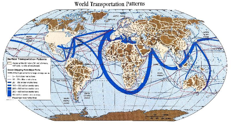 Oil-Shipping Routes lenghten
