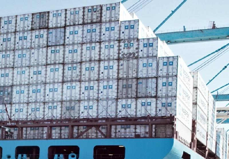 Maersk ship loses over 500 boxes overboard in Bay of Biscay storm