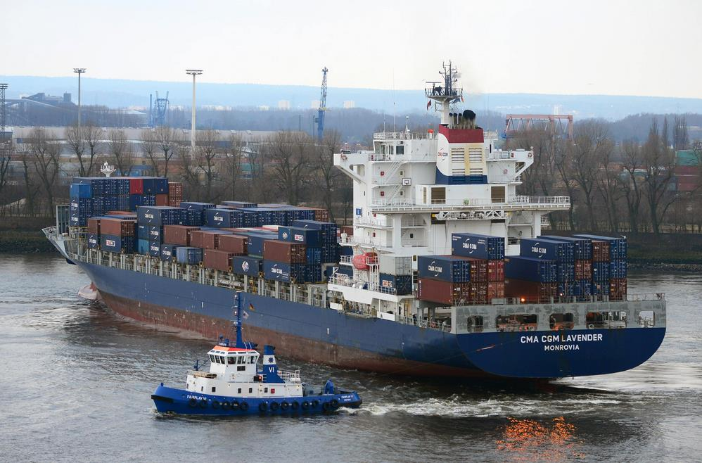 First Container Liner Service between Hamburg and Black Sea
