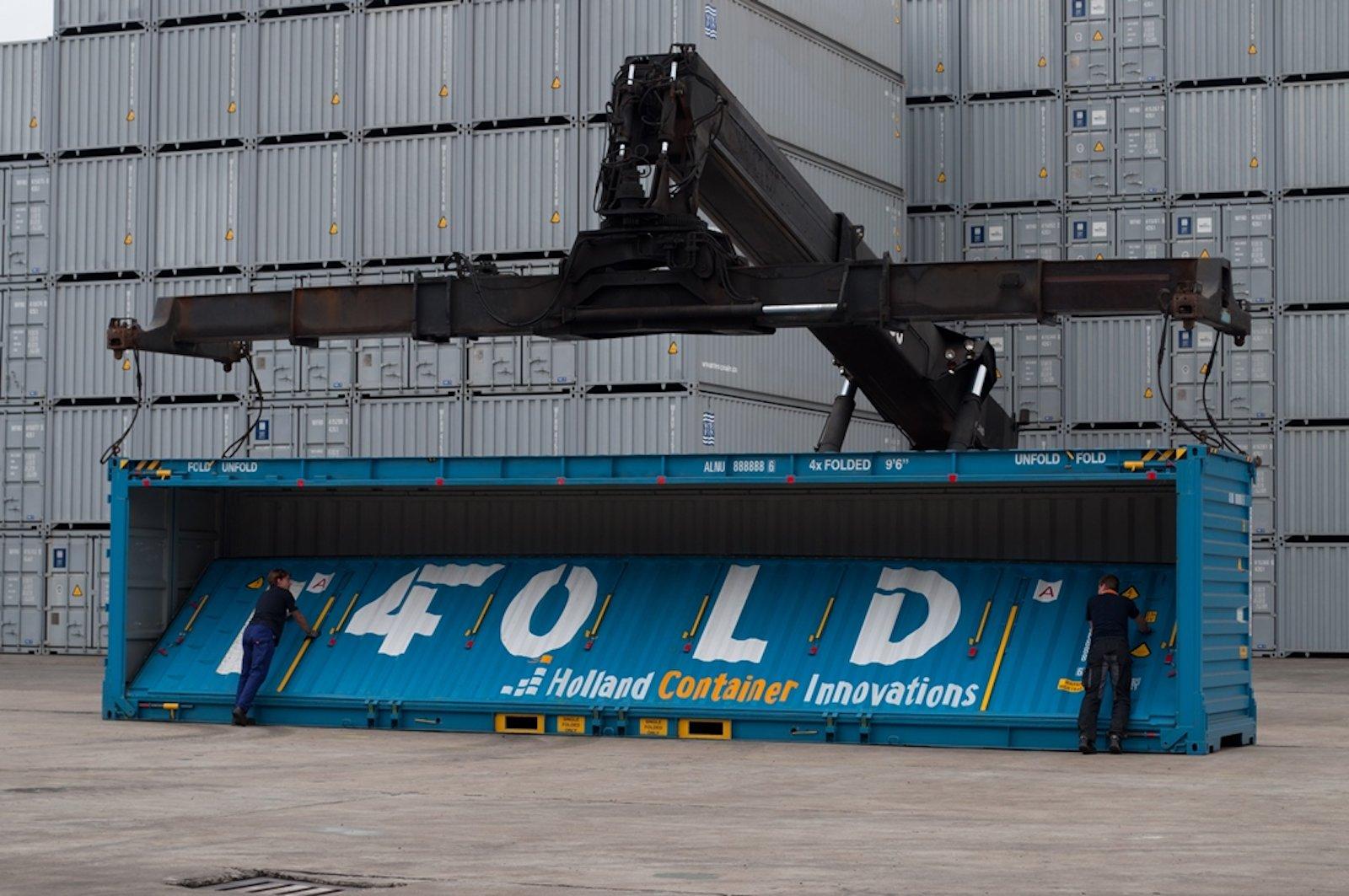 Having done HK-Rotterdam sea trials, foldable FEU tested in Europe