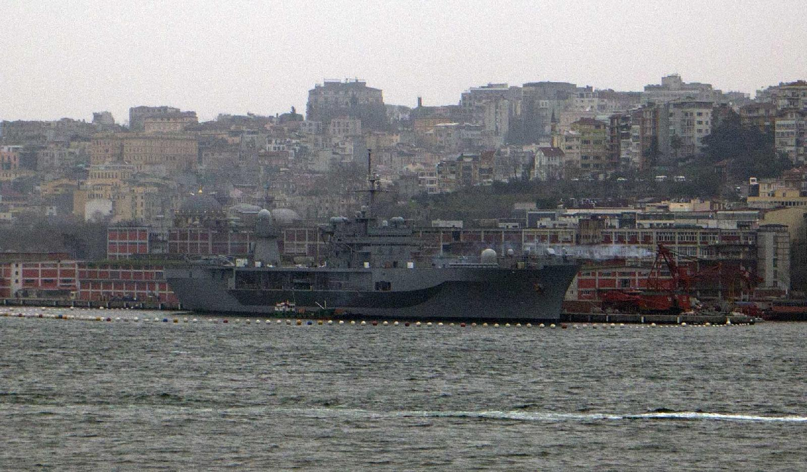 USS Mount Whitney Arrives in Istanbul