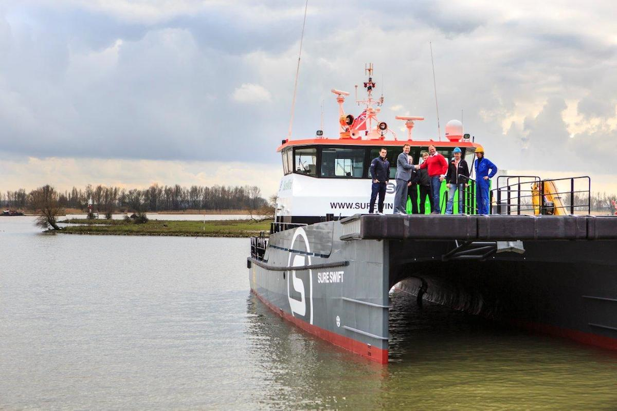 Sure Wind takes delivery of second Damen Twin Axe FCS 2610