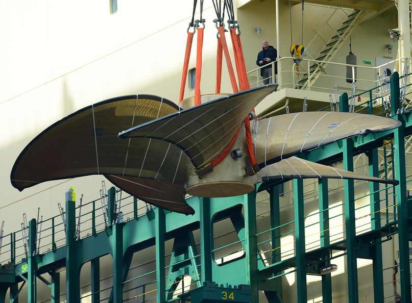 World's Largest Ship Propeller Transshipped