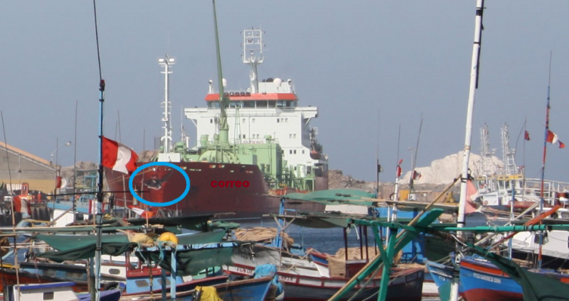 """""""Trans Catalonia"""" and """"Fairchem Silver"""" collide in Port of Matarani"""